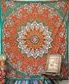 Queen Indian Star Mandala Psychedelic Tapestry, Hippie Bohemian Wall Hanging Tapestries, Bedspread…