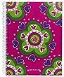 Agatha Ruiz de la Prada for Miquelrius Cardboard Notebook, Andino (8.5 x 11, 4-Subject, College Ruled) 120 SHEETS