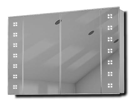 Tiaz LED Illuminated Bathroom Mirror Cabinet With Sensor & Shaver k121