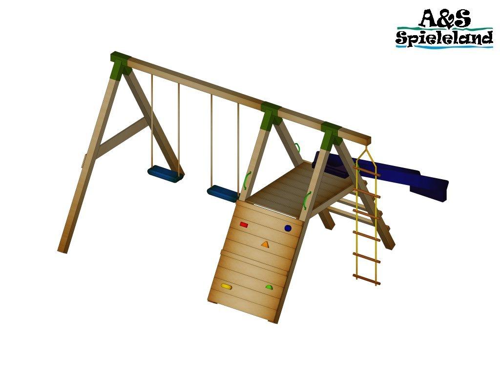 Spielturm JUNIOR 2.0 120cm mit 2,4m Wellenrutsche Set 2 bestellen
