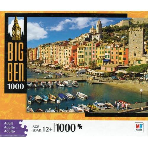 Amazon.com: Hasbro Big Ben 1000 Piece Jigsaw Puzzle - Portovenere
