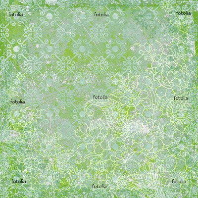 'Green Floral Christmas Scrapbook Background 