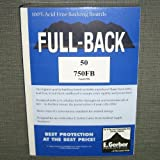 "E. Gerber Full-Back Silver/Golden Comic Size Acid-Free Backing Boards 7 1/2"" x 10 1/2"" Pack of 50"