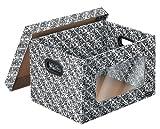 【Amazon.co.jo限定】フェローズ バンカーズボックス テキスタイルシリーズ ミディアムサイズ 4枚パック 4663601 日本未発売/USモデル
