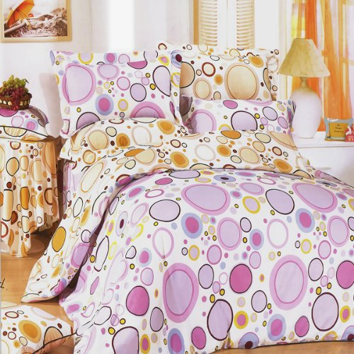 Blancho Bedding - [Baby Pink] Luxury 5Pc Comforter Set Combo 300Gsm (King Size) front-504506