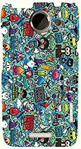 Striking multicolor printed protective REBEL mobile back cover for HTC One X+ ( X Plus ) D.No.N-L-11064-htcX