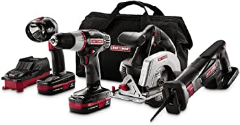 Craftsman 4-Pc. Lithium Combo Kit + $11.60 Sears Credit