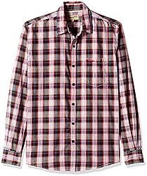 Wrangler Men's Casual Shirt (8907222643218_W14829945525_Large_Black)