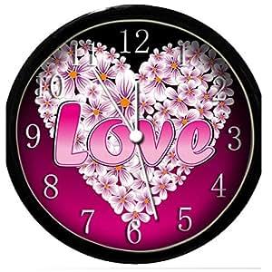 glow in the dark wall clock love 4 home