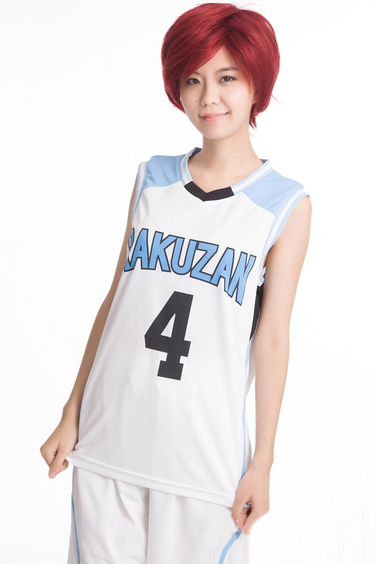 [Kurokos Basketball Wind] [Rakuyama High School Akashi TadashiJuro (Sei Akashi Juro) Wind] Jersey No. 4 Uniform Cosplay Anime sensen (Groesse M)