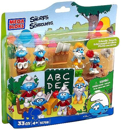 Mega Bloks Smurfs School