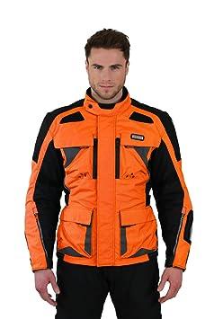 NERVE 21140118_04 Nerve Tengri Blouson de Moto, Taille L, Orange