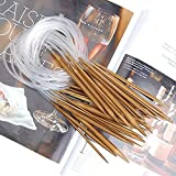 Zxuy 18 Sizes 2.0mm-10.0mm 80cm Bamboo Circular Knitting Needles