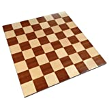 Zelus Borderless Tournament Chess Board with Inlaid Mahogany Wood - Board Only – 18 Inch
