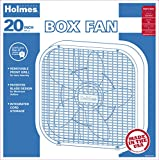 Holmes HBF2010A-WM Box Fan, Metal, 20-Inch, White