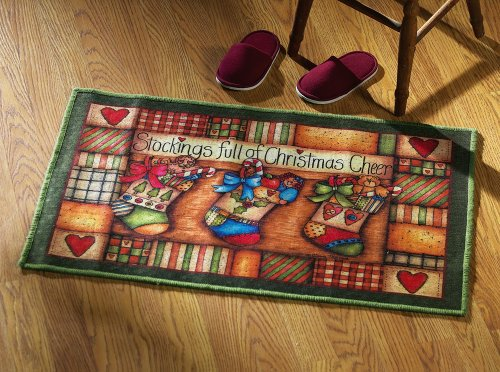 Dianna Marcum Christmas Stocking Small Area Rug by Collections Etc