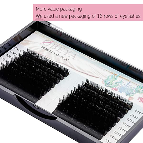 Obeya Eyelash Extensions 010 C Curl Lash Extensions 8 15mm Mixed