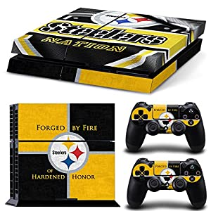 FriendlyTomato PS4 Console and DualShock 4 Controller Skin Set - Football NFL - PlayStation 4 Vinyl