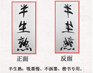 Megrez Chinese Watercolor Practice Chinese Japanese Calligraphy Writing Sumi Drawing Xuan Rice Paper Thickening without Grids 100 Sheets/Set - 50 x 100 cm (19.68 x 39.37 inch), Half Sheng Shu Xuan (Color: Half Sheng Shu Xuan, Tamaño: 50 x 100 cm (19.68 x 39.37 inch))
