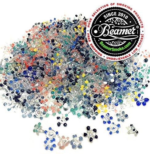 5000 Ultra Premium Beamer Medium Daisy Glass Screens for Pipes + Limited Edition Beamer Smoke Sticker