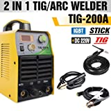 TOSENBA TIG Welder Tig/Arc/Stick Tig Welding Machine 200Amp 220V DC Inverter IGBT MMA Digital Display