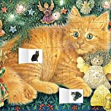 Flame Tree Publishing Ivory Cats Hark the Herald Angels Sing advent calendar (with stickers) (Flame Tree Calendars 2015)