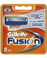Gillette Lames de rasoir Fusion - Pack de 5 Recharges