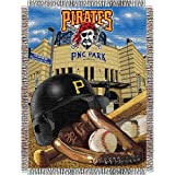 "Pittsburgh Pirates MLB Woven Tapestry Throw (Home Field Advantage) (48""x60"")"
