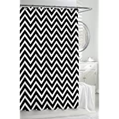 1 kassatex cortina black u0026 white classic chevron fabric shower curtain