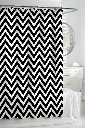 best black and white chevron shower curtain reviews - Black and ...