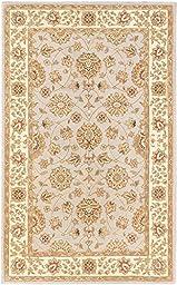eCarpetGallery Handmade Timeless 5-Feet 0-Inch by 8-Feet 0-Inch Wool Rug, Light Gray