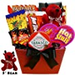 You Little Devil! Hot & Sweet Snack Valentine's Gift Basket with Teddy Bear from Art of Appreciation Gift Baskets