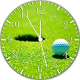 """New Golf Wall Clock 10"""" Will Be Nice Gift and Room Wall Decor W332"""