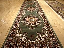 Silk Traditional Area Rug Sage Green Rug 2x8 Rug Silk Persian Area Rugs Floor Hallway Runner Green Rug Runners 2x7 Silk Persian Green Rug