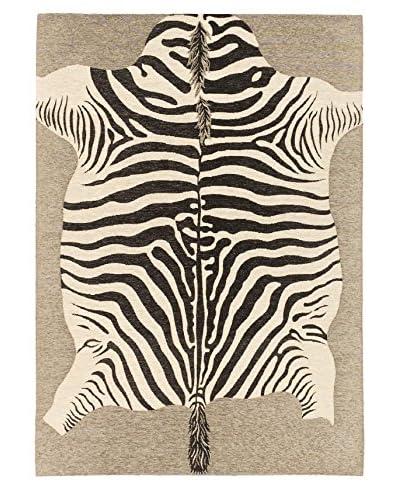 Portico Rug, Black/Cream, 5' 3 x 7' 7