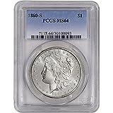1880 S US Morgan Silver Dollar $1 MS64 PCGS