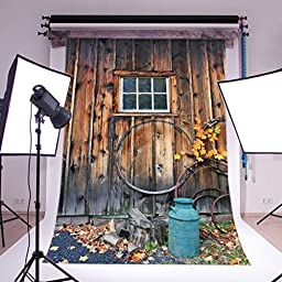 LB 5x7ft Vintage Door Poly Fabric Photo Backdrops Customized Studio Background Studio Props WF69
