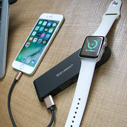 Apple WatchとiPhoneを同時に充電できるモバイルバッテリー(APWTCHP3)