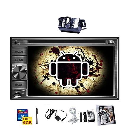 Autoradio Android HD pantalla tš¢ctil capacitiva de la insignes del coche de navegaciš®n GPS de DVD VidšŠo CD Doble 2 DIN jugador 6.2 '' 2 din coche estšŠreo Radio FM RDS AM Bluetooth WiFi audio Cš