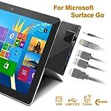 Rocketek Surface Go Docking Station, USB C Hub HDMI Adapter 5 in 1 Type C Hub with 1000M RJ45 Ethernet, 4K USB C to HDMI, 2 USB 3.0 Ports, Audio/Mic Output(Headset) for Microsoft Surface Go (Color: Surface Go Docking Station)