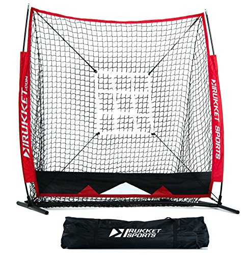 Rukket 5x5 Baseball & Softball Practice Net with Strike Zone Target and Lifetime Warranty (Bow Targets Ball compare prices)