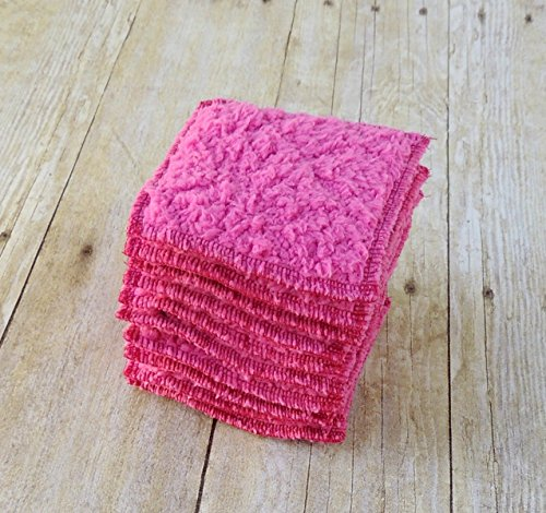 makeup-remover-pads-fuchsia-face-scrubbies-small-washcloth-set-of-10