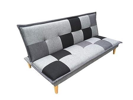 Schlafsofa Funktionssofa Gästesofa Schlafcouch Sofa Couch Campeon grau / schwarz