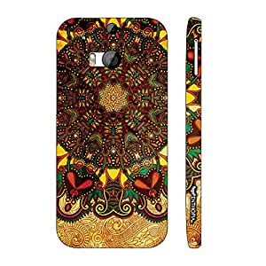 Htc One M8 Aztec Earth designer mobile hard shell case by Enthopia