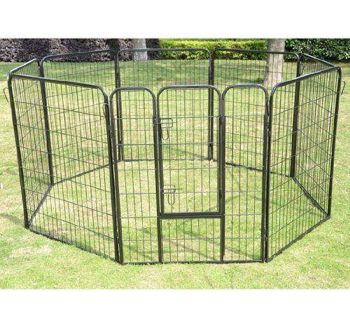 "Pawhut 32"" 8 Panel Heavy Duty Pet Dog Portable Exercise Playpen front-94638"