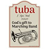 Tuba [3 Pack] of Vinyl Decal Stickers | 3.3