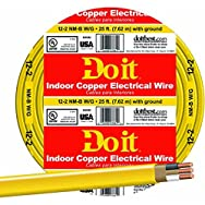 Southwire 28828217 Do it Nonmetallic Sheathed Cable-25' 12-2 NMW/G WIRE