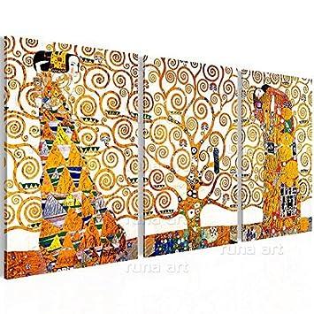 KLIMT ABSTRAKT BAUM DES LEBENS Wandbilder xxl Bilder Vlies Leinwand l-A-0049-b-e