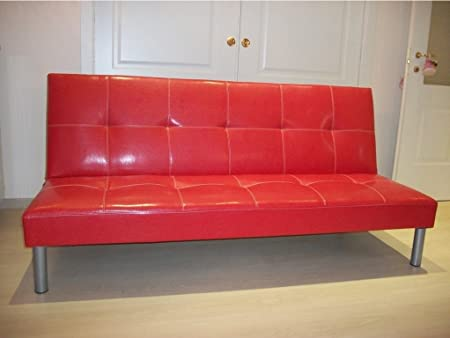 Schlafsofa Sofa Bed Sofa 3Sitzer, 178x 79x 84kindersofas Sofa warten–Rot -
