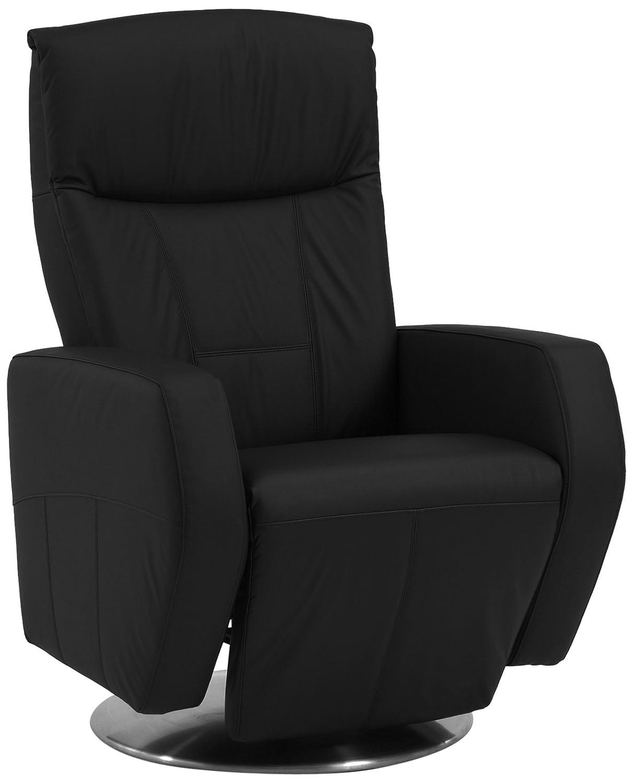 Sino-Living SE-800B-M-01-E Relax und Ruhesessel in Dickleder, schwarz mit motorischer Verstellung